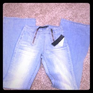 Erin wasson flare bell bottom jeans zippers ps